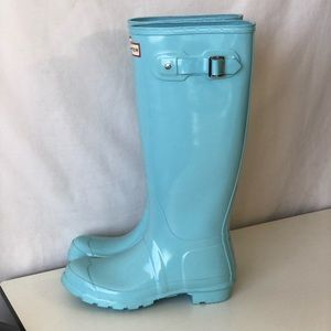 Hunter Womens Original High Gloss Rain Boots Welly